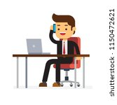businessman sitting in the... | Shutterstock .eps vector #1150472621