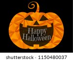 jack o lantern pumpkin with... | Shutterstock .eps vector #1150480037