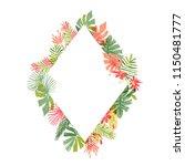 hand drawn tropical flower ... | Shutterstock .eps vector #1150481777