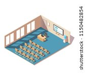 meeting room cutaway icon. low... | Shutterstock .eps vector #1150482854
