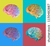 colorful low poly brain... | Shutterstock .eps vector #1150482887