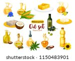 natural oil and butter poster... | Shutterstock .eps vector #1150483901