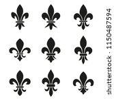 set of emblems fleur de lys... | Shutterstock .eps vector #1150487594