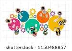 flat design illustration... | Shutterstock .eps vector #1150488857