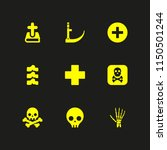 death icon. 9 death set with... | Shutterstock .eps vector #1150501244