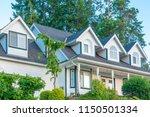 a perfect neighborhood. houses... | Shutterstock . vector #1150501334