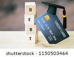 debt financial problems for... | Shutterstock . vector #1150503464