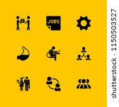 9 worker icons in vector set.... | Shutterstock .eps vector #1150503527