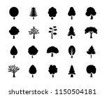 set of trees glyph vector icons   Shutterstock .eps vector #1150504181