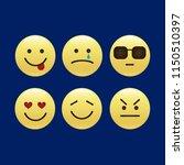 smile icons. emoji. emoticons | Shutterstock .eps vector #1150510397