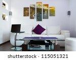 modern lliving room interior... | Shutterstock . vector #115051321