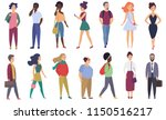 vector stylized characters... | Shutterstock .eps vector #1150516217