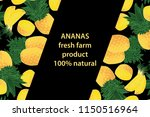 vector illustration of ananas... | Shutterstock .eps vector #1150516964