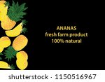 vector illustration of ananas... | Shutterstock .eps vector #1150516967