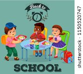 school lunch colorful poster | Shutterstock .eps vector #1150520747