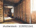 old basement renovation in... | Shutterstock . vector #1150521161