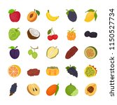 fruit flat icons set  | Shutterstock .eps vector #1150527734