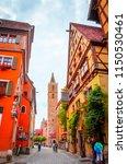 beautiful streets in rothenburg ... | Shutterstock . vector #1150530461