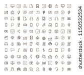 message icon set. collection of ... | Shutterstock .eps vector #1150532534