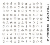 message icon set. collection of ... | Shutterstock .eps vector #1150534637