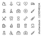 dental icon set. collection of... | Shutterstock .eps vector #1150548134