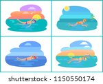 butterfly and backstroke styles ...   Shutterstock .eps vector #1150550174
