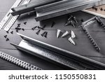 plasterboard gypsum board... | Shutterstock . vector #1150550831
