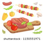 beefsteak roasted meat isolated ... | Shutterstock .eps vector #1150551971
