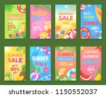summer sale seasonal offer... | Shutterstock .eps vector #1150552037