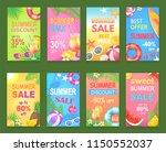 summer sale seasonal offer... | Shutterstock .eps vector #1150552037
