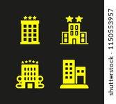 4 hostel icons in vector set.... | Shutterstock .eps vector #1150553957