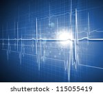 a medical background with a... | Shutterstock . vector #115055419