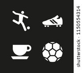 4 cup icons in vector set.... | Shutterstock .eps vector #1150554314