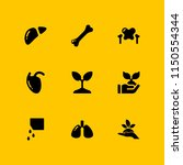 sprout icon. 9 sprout set with... | Shutterstock .eps vector #1150554344