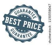 best price guarantee label stamp | Shutterstock .eps vector #1150558067
