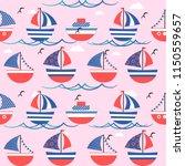 cute seamless pattern ... | Shutterstock .eps vector #1150559657