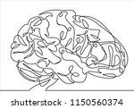 vector line brain continuous... | Shutterstock .eps vector #1150560374