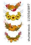 fall wreath set. autumn... | Shutterstock .eps vector #1150565897