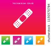 bandage  icon in colored square ... | Shutterstock .eps vector #1150570784