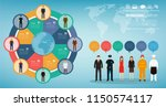 people of different occupations ... | Shutterstock .eps vector #1150574117