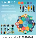 people of different occupations ... | Shutterstock .eps vector #1150574144