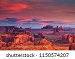 sunrise in hunts mesa navajo... | Shutterstock . vector #1150574207
