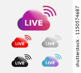 live icon vector. social media... | Shutterstock .eps vector #1150574687