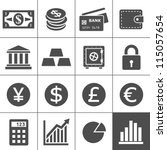 finance icons. each icon is a... | Shutterstock .eps vector #115057654