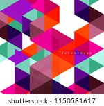multicolored triangles abstract ... | Shutterstock .eps vector #1150581617
