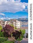 a perfect neighborhood. houses... | Shutterstock . vector #1150585031
