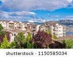 a perfect neighborhood. houses... | Shutterstock . vector #1150585034