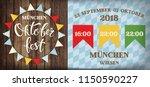 attractive oktoberfest... | Shutterstock .eps vector #1150590227