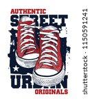sneakers illustration for t... | Shutterstock .eps vector #1150591241