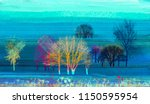 abstract colorful oil painting... | Shutterstock . vector #1150595954